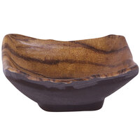 Elite Global Solutions D3125SQ-SEQ Sequoia 2.5 oz. Square Wood Grain Melamine Ramekin