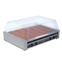 Nemco 8075SX-220 Hot Dog Roller Grill with GripsIt Non-Stick Coating - 75 Hot Dog Capacity (220V)