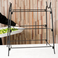 American Metalcraft IS14 Ironworks Three-Tier Rectangular Display Stand