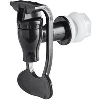 Acopa Hands-Free Replacement Black Spigot for Beverage Dispensers