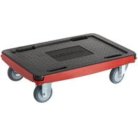 CaterGator Dash 24 1/4 inch x 16 5/16 inch x 6 11/16 inch Red Compact Dolly - 550 lb.