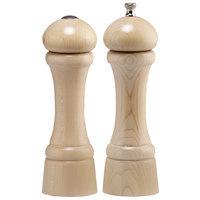 Chef Specialties 08200 Professional Series 8 inch Customizable Windsor Natural Maple Pepper Mill and Salt Shaker