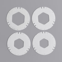 San Jamar XC2226 White Replacement Gasket Kit for Euro EZ-Fit C2210 Cup Dispenser   - 4/Pack