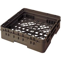 Cambro BR414167 Brown Camrack Customizable Full Size Open Base Rack with 1 Extender