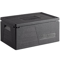 CaterGator Dash Black EPP Full Size 8 inch Deep Top Loading Insulated Food Pan Carrier