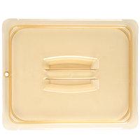 Carlisle 10430U13 StorPlus 1/2 Size Amber Universal High Heat Handled Lid
