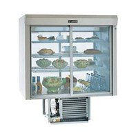 Delfield F5SC72N 72 inch Narrow Depth Drop-In Refrigerated Display Case with See-Through Back - 22.2 Cu. Ft.