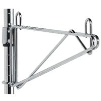 Metro 1WS21S Super Erecta Stainless Steel Post-Type Wall Mount 21 inch Shelf Support