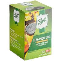 Ball 1440010812 Regular Mouth Black Plastic Leak-Proof Lids for Canning Jars   - 6/Pack