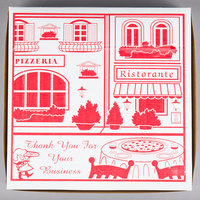 12 inch x 12 inch x 2 inch Clay Coated Pizza Box - 100/Bundle