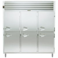 Traulsen Stainless Steel RHF332W-HHS 79 Cu. Ft. Solid Half Door Three Section Reach In Heated Holding Cabinet - Specification Line