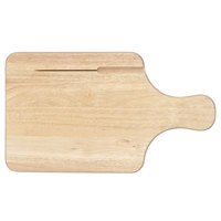 Tablecraft 79K Bread / Charcuterie Board with Knife Slot - 13 1/2 inch x 7 1/2 inch x 3/4 inch