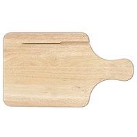 Tablecraft 79K Bread / Charcuterie Board with Knife Slot - 13 1/2 inch x 7 1/2 inch x 3/4 inch