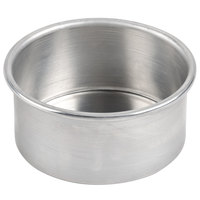 American Metalcraft 3806 6 inch x 3 inch Aluminum Round Cake Pan