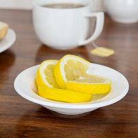 CAC GAD-32 Garden State 3.5 oz. Bone White Porcelain Fruit / Monkey Dish - 36/Case