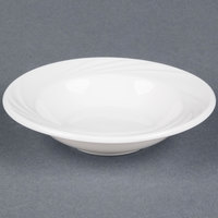 CAC GAD-32 Garden State 3.5 oz. Bone White Porcelain Fruit / Monkey Dish - 36/Case
