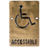 Tablecraft 465632 ADA Handicap Accessible Sign - Bronze, 6 inch x 4 inch