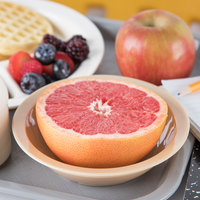 Carlisle PCD31325 Tan 10 oz. Polycarbonate 6 inch Rimmed Grapefruit Bowl - 48/Case