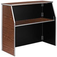 Flash Furniture XA-BAR-48-WAL-GG 47 3/4 inch Brown Walnut Laminate Portable Bar