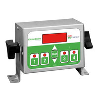 Kitchen Brains Z040120HFCLT (FAST) ZAP Timer LT Digital 4-Product 99 Hour Timer with Universal Mounting Kit - 120V