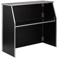 Flash Furniture XA-BAR-48-BK-GG 47 3/4 inch Black Laminate Portable Bar