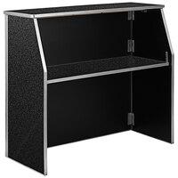 Flash Furniture XA-BAR-48-MAR-GG 47 3/4 inch Black Marble Laminate Portable Bar