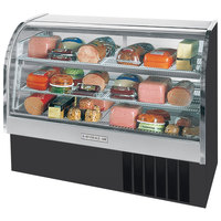 Beverage-Air CDR5/1-B-20 Black Curved Glass Refrigerated Bakery Display Case 61 inch - 22.9 Cu. Ft.