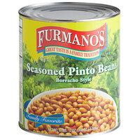 Furmano's #10 Can Seasoned Pinto Beans (Borracho Style) - 6/Case