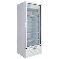 Beverage-Air LV23HC-1-W White Lumavue Refrigerated Glass Door Merchandiser with LED Lighting - 23 Cu. Ft.