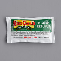 Red Gold 9 Gram All Natural Ketchup Packets   - 1000/Case