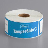 TamperSafe 1 1/2 inch x 6 inch Blue Paper Tamper-Evident Label - 250/Roll