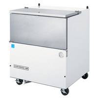 Beverage-Air SM34N-W-02 34 1/2 inch White 1-Sided Cold Wall Milk Cooler with Stainless Steel Interior