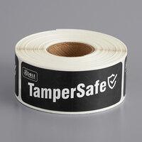 TamperSafe 1 inch x 3 inch Black Paper Tamper-Evident Label - 250/Roll