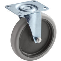 Lavex Industrial 5 inch Swivel Caster for Utility Carts