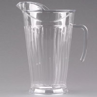 Fineline Platter Pleasers 3402-CL 60 oz. Clear Plastic Pitcher - 12 / Case