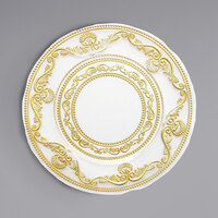 The Jay Companies 1875023 13 inch Round American Atelier Duchess Gold Glass Charger Plate