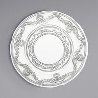 The Jay Companies 1875024 13 inch Round American Atelier Duchess Clear Glass Charger Plate