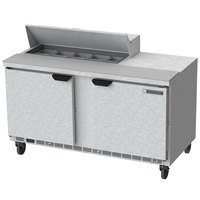 Beverage-Air SPE60HC-10 Elite Series 60 inch 2 Door Refrigerated Sandwich Prep Table