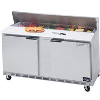 Beverage-Air SPE60-10 60 inch Two Door Refrigerated Salad / Sandwich Prep Table