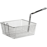 Pitco P6072143 Equivalent 13 1/4 inch x 13 1/2 inch x 5 3/4 inch Full Size Fryer Basket with Front Hook