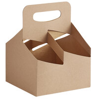 Choice 4 Cup Handled 16-32 oz. Drink Carrier - 200/Case