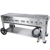 Crown Verity MCB-72 Natural Gas Portable Outdoor BBQ Grill / Charbroiler