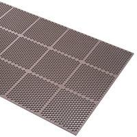 Cactus Mat 2535-B36 Honeycomb 3' x 6' Brown Anti-Fatigue Rubber Mat - 9/16 inch Thick
