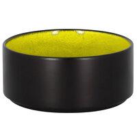 RAK Porcelain FRNOBW12GR Fire 16.25 oz. Green Round Porcelain Stackable Bowl - 12/Case