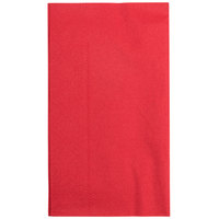 "Red Paper Dinner Napkins, 2-Ply, 15"" x 17"" - Hoffmaster 180511 - 125/Pack"