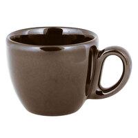 RAK Porcelain GN116C08CL Genesis Glossy 2.7 oz. Brilliant Clove Porcelain Espresso Cup   - 12/Case
