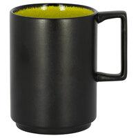 RAK Porcelain FRNOMG33GR Fire 11.15 oz. Green Stackable Porcelain Mug - 6/Case