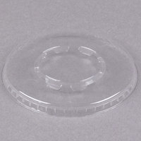 WNA Comet LCD58C Clear Flat Lid for 5 and 8 oz. Dessert Container - 100/Pack