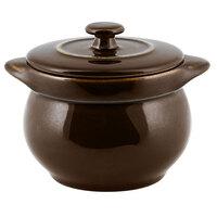 RAK Porcelain GNCFST10CL Genesis Glossy 15.20 oz. Brilliant Clove Round Porcelain Soup Tureen with Lid - 2/Case
