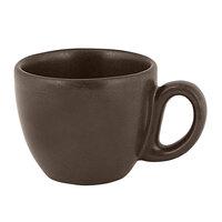 RAK Porcelain GN116C08CO Genesis Mat 2.7 oz. Cocoa Porcelain Espresso Cup   - 12/Case